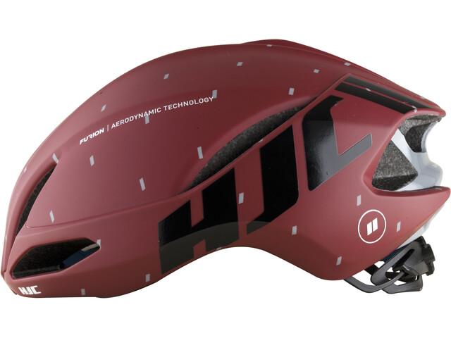 HJC Furion Casco de carretera, matt pattern red